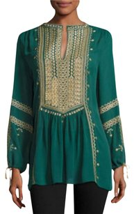 Calypso St. Barth Zandy Embroidered Top Green