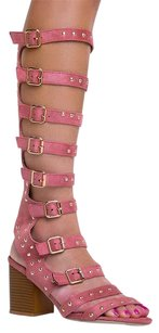 Cape Robbin Gladiator Heels-and-pumps High Ama5pink-11 Pink Sandals