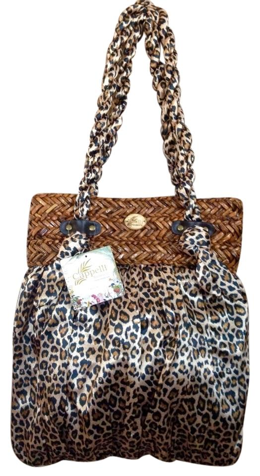 good Capelli New York Straworld Leopard Beach Bag - www ...