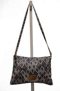 Carla Mancini Greywhite Woven Shoulder Bag