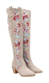 Carlos By Carlos Santana Alexia Embroidered Tall Boot pz8La