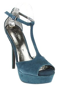 Carlos by Carlos Santana Womens Suede blue Pumps