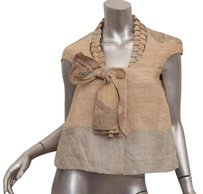 Carolina Herrera Editorial Womens Classic Bow Swing Beige Jacket