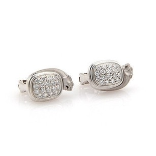 Carrera y Carrera Carrera Y Carrera 18k White Gold Pave Diamond Panther Earrings