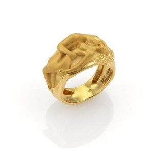 Carrera y Carrera Carrera Y Carrera Adam Eve 18k Yellow Gold 12mm Band Ring -