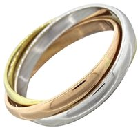 Cartier Authentic Cartier 18k Yellow White Rose Gold Trinity Band Ring 58