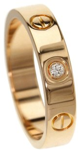 Cartier CARTIER 18K Pink Gold Mini Love Ring US Size 4.75