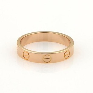 Cartier Cartier,18k Rose,Gold,3.5mm,Wide,Mini,Love,Ring Band,Size,EU,51,-,US,5.5