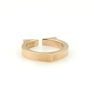 Cartier Cartier 18k Rose Gold Flat C Logo Bandring - 5.25 With Box
