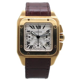 Cartier Cartier 18K Santos 100 XL Chronograph W20096Y1 Men's Watch