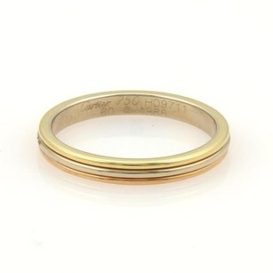 Cartier Cartier 18k Tri-color Gold 3mm Wide Triple Band Ring Eu 60-us