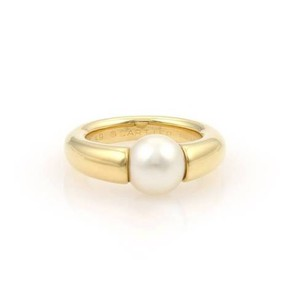Cartier Cartier 18k Yellow Gold Cultured 8mm Pearl Ring 49