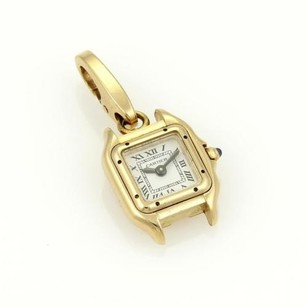 Cartier Cartier 18k Yellow Gold Panthere Watch Charm Pendant Sapphire Crown
