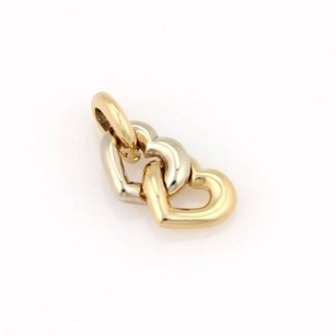 Cartier Cartier 18k Yellow White Gold Double Heart Pendant