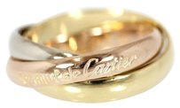 Cartier Cartier 18K Yellow/Pink/White 3 Gold Trinity Ring US SIZE 6.25