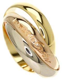 Cartier CARTIER 18K Yellow/White/Pink Gold Trinity Ring US SIZE 4.5