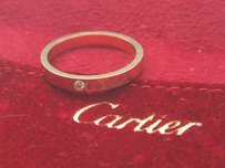 Cartier Cartier 18kt Rose Gold Diamond Wedding Band .03ct