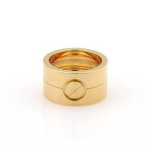 Cartier Cartier 18kt Yellow Gold High Love Wide Bandring 48 Us-4.75 With Box