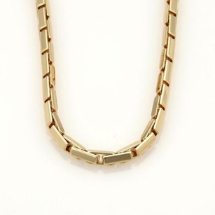 Cartier Cartier Agrafe 18k Yellow Gold Front Clasp Long Box Link Necklace