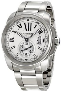 Cartier Cartier Calibre de Cartier Stainless Steel Silver Dial Men's Automatic Watch W7100015