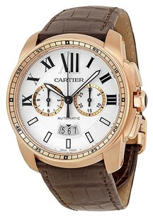 Cartier Cartier Calibre Men's 18k Rose Gold Automatic Chronograph Watch - W7100044