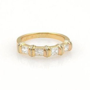 Cartier Cartier Contessa 1ct Diamonds 18k Gold Band Ring Eu 53-us Wcert.