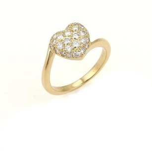 Cartier Cartier Diamond Heart Yellow Gold Ring - Eu 50-us