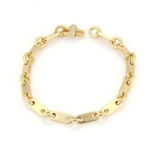 Cartier Cartier Flat Oval Bar Link 18k Yellow Gold Bracelet 7.25 Long