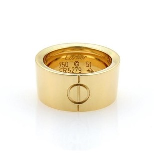 Cartier Cartier High Love 18k Yellow Gold 10mm Wide Band Ring Eu 51-us 5.75