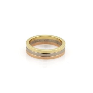Cartier Cartier 18k Tri-color Gold Triple Stack 5mm Band Ring