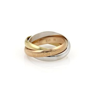 Cartier Cartier Trinity 18k Tri-color Gold 3.5mm Rolling Band Ring 55-us Card.