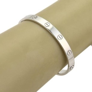 Cartier Cartier Love 18k White Gold 6mm Wide Bangle Wscrewdriver - 17