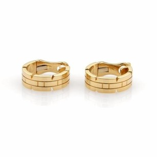 Cartier Cartier Tank Franchaise 18k Yellow Gold 6.5mm Wide Oval Hoop Earrings