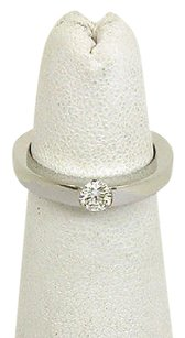 Cartier Cartier French 18k White Gold Diamond Solitaire Bandring