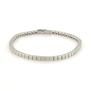 Cartier Cartier Lanieres 3mm Wide 18k White Gold Bracelet Eu 15-us 6.5 Cert
