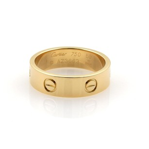 Cartier Cartier Love 18k Yellow Gold 6mm Wide Band Ring Eu 59-