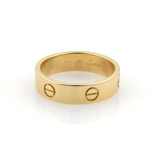 Cartier Cartier Love 18k Yellow Gold 6mm Wide Band Ring Eu 64-