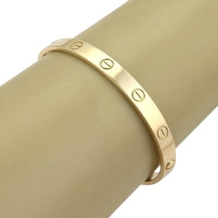 Cartier Cartier Love 18k Yellow Gold Bangle Bracelet - Screwdriver Box - 17