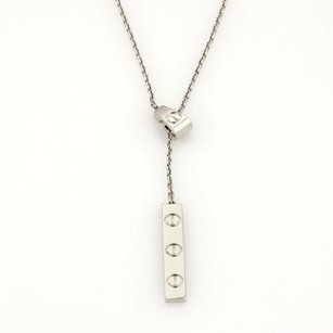 Cartier Cartier Love Collection 18k White Gold Bar Pendant Lariat Necklace