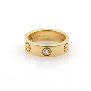 Cartier Cartier Love Diamonds 18k Yellow Gold 5.5mm Band Ring Eu 51-us