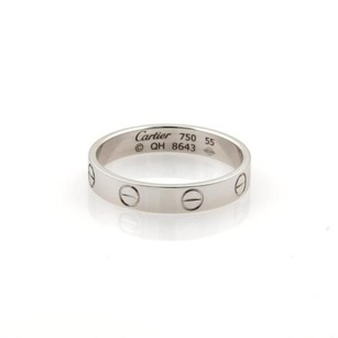 Cartier Cartier Mini Love 18k White Gold 3.5mm Band Ring Eu 55-us