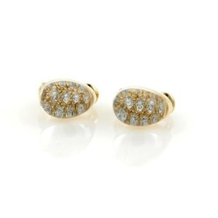 Cartier Cartier Mist Diamonds Clear Quartz 18k Yellow Gold Post Clip Earrings