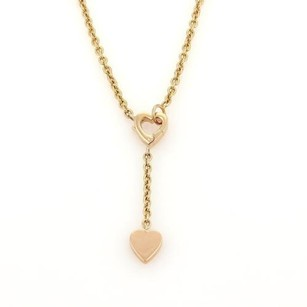Cartier Cartier Mon Amour 18k Rose Gold Hearts Lariat Chain Necklace