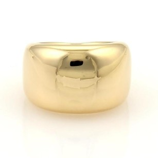 Cartier Cartier Nouvelle Vague 18k Ygold Wide Dome Ring Eu 48-us 4.75