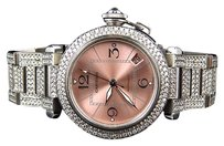 Cartier Cartier Pasha Mm Round Pink Automatic Diamond Watch With Ct Ref 2324