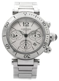 Cartier Pasha Seatimer 42mm Large Chronograph Stainless Steel Men's Watch