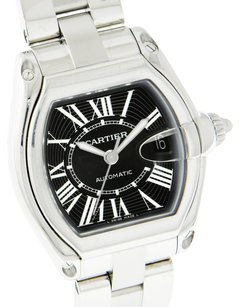 Cartier Cartier Roadster Stainless Steel Black Dial Mens Large Automatic Watch