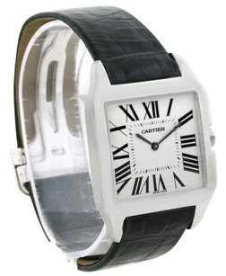 Cartier Cartier Santos Dumont 18K White Gold Silver Dial Men's Watch