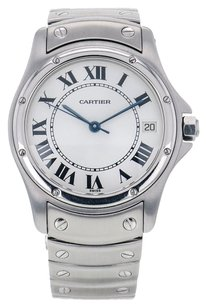 Cartier Cartier Santos Ronde Steel Automatic Men's Watch 1920 CRTSSC2
