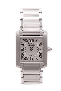 Cartier Cartier Stainless Steel Tank Francaise Watch